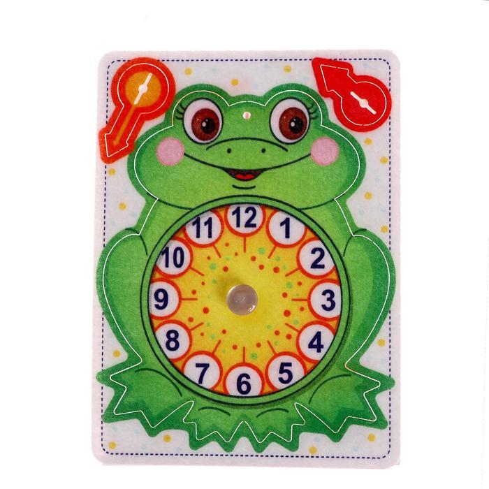Игрушка из фетра Часы. Лягушонок