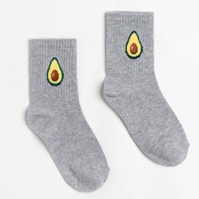 Носки детские, цвет светло-серый меланж, размер 16-18