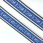 Тесьма «NICE», размер 2,5 см 1 метр, цвет синий, белый