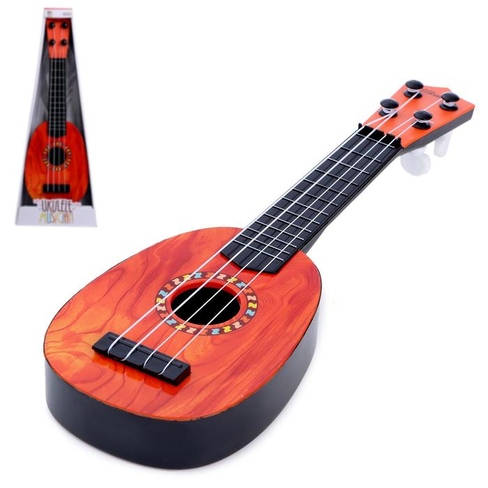 Игрушка музыкальная гитара Укулеле, МИКС