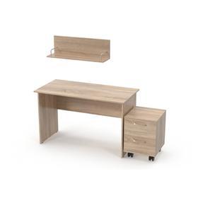 Школьный набор мебели «Карандаш», стол письменный, тумба выкатная, полка, цвет дуб сонома Ош