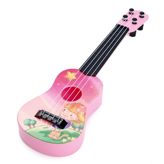 Музыкальная игрушка-гитара Забава, цвета МИКС
