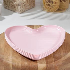 Набор тарелок «Амор», 6 шт, цвет МИКС