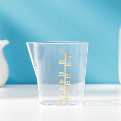 Ёмкость мерная для продуктов, 200 мл, цвет прозрачный - Фото 1