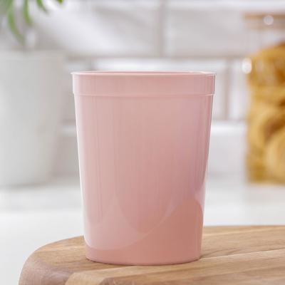 Стакан, 400 мл, цвет розовый - Фото 1