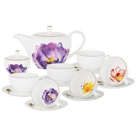 Чайный сервиз Flowers, 6 персон, 14 предметов