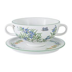 Суповая чашка на блюдце «Летняя сказка», 0.5 л