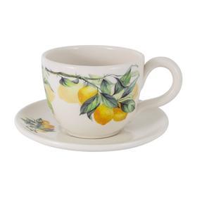 Чашка с блюдцем «Лимоны», 0.4 л