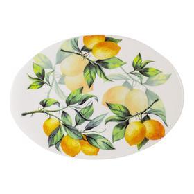 Блюдо овальное «Лимоны», 39×28 см