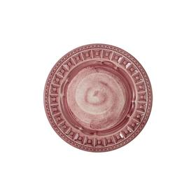 Тарелка закусочная Augusta, розовая, 22 см