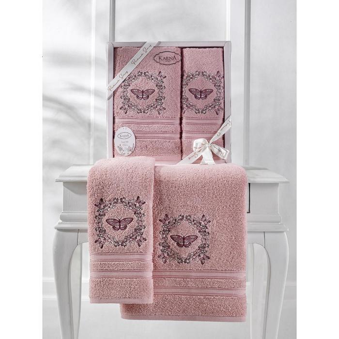 КМП Maria, размер 50x90 см, 70x140 см, цвет грязно-розовый