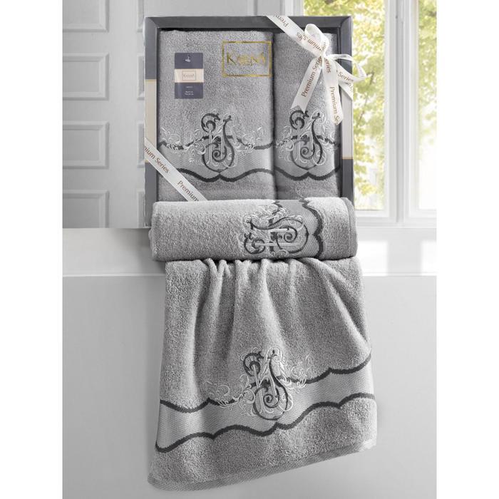 КМП Adven, размер 50x90 см, 70x140 см, цвет светло-серый