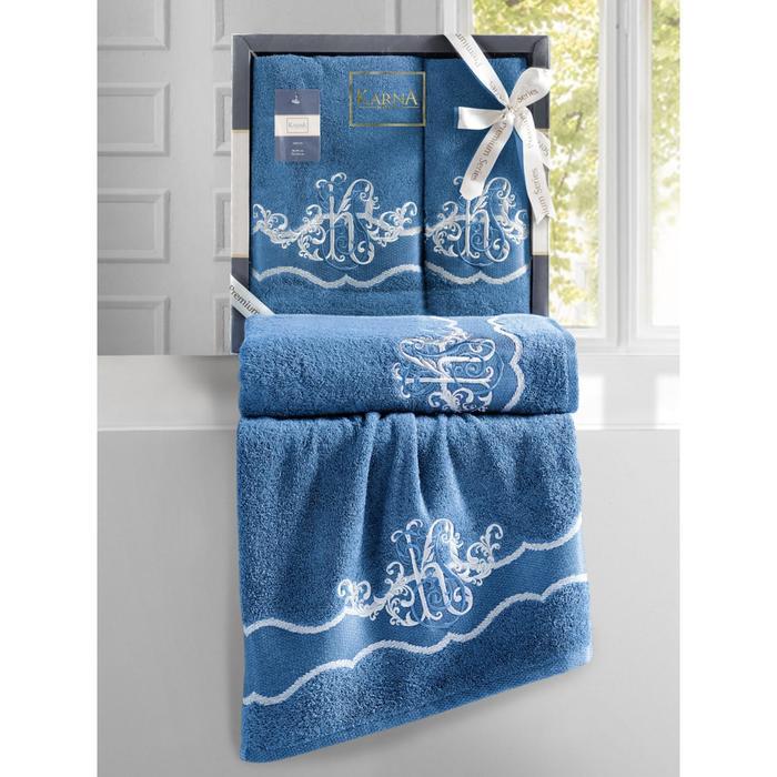 КМП Adven, размер 50x90 см, 70x140 см, цвет синий