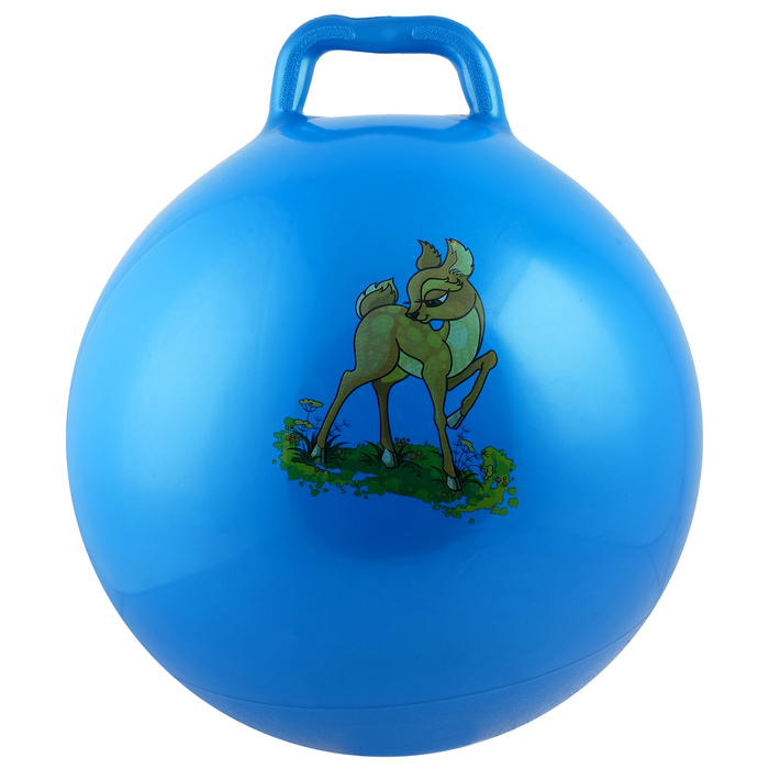 Мяч прыгун с ручкой Девчонки и Мальчишки, d55 см, 420 г, МИКС