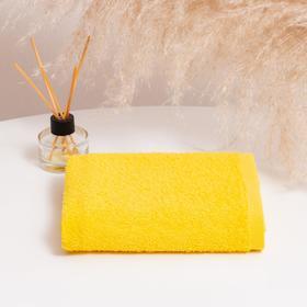 Полотенце махровое НИКА 30х50 см, жёлтый, хлопок 100%, 300г/м2
