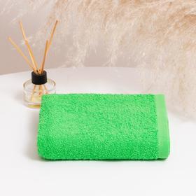 Полотенце махровое НИКА 30х50 см, зелёный, хлопок 100%, 300г/м2