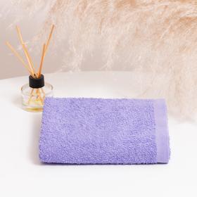 Полотенце махровое НИКА 30х50 см, св.фиолетовый, хлопок 100%, 300г/м2