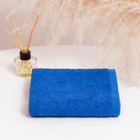 Полотенце махровое НИКА 30х50 см, синий, хлопок 100%, 300г/м2