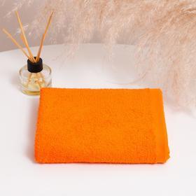 Полотенце махровое НИКА 30х50 см, ярко-оранжевый, хлопок 100%, 300г/м2