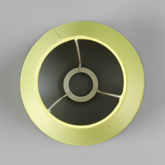Абажур Е14 желтый 15,5х15,5х13,7 см