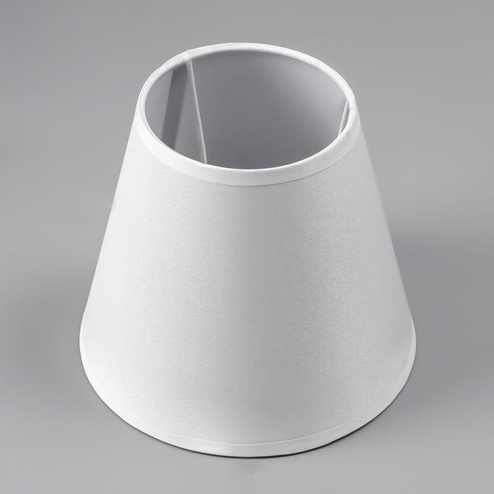 Абажур Е14 белый 15,5х15,5х13,7 см