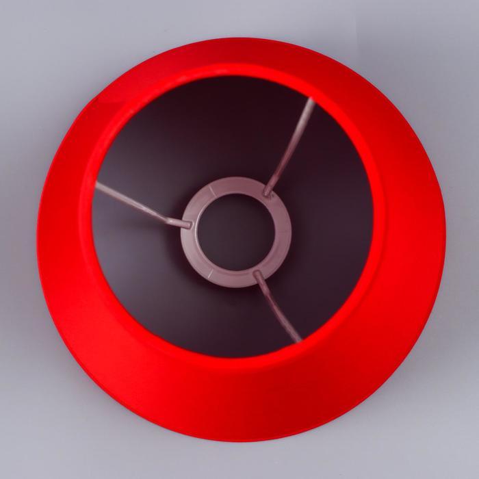 Абажур Е14 красный 15,5х15,5х13,7 см