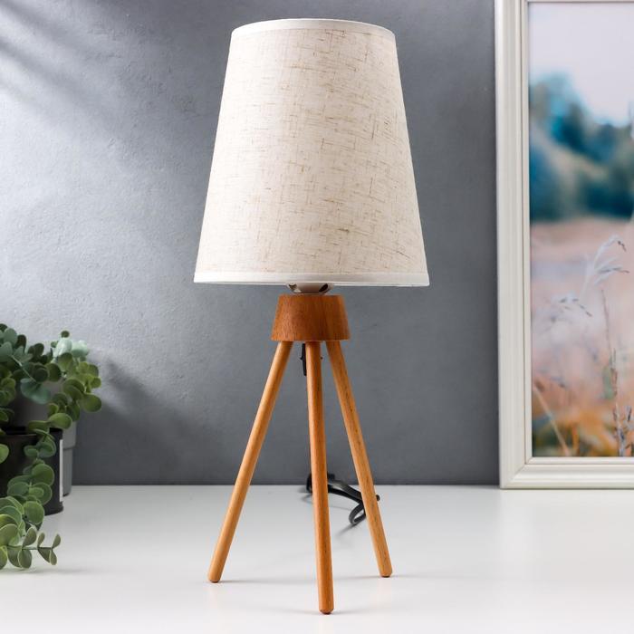 Настольная лампа 16600/1WT E27 40Вт белый 16х16х36,5 см
