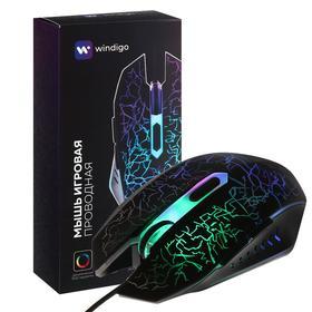 Мышь Windigo MB-2.4, игровая, оптическая, подсветка, покрытие soft-touch, 1.3 м Ош