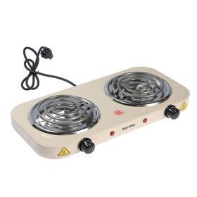 """Плитка электрическая """"Чудесница"""" ЭЛП-802, 2000 Вт, 2 конфорки, бежевая"""