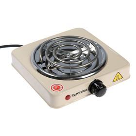 Плитка электрическая 'Чудесница' ЭЛП-801, 1000 Вт, 1 конфорка, бежевая Ош