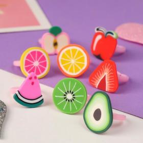 Кольцо детское 'Выбражулька' фруктовое ассорти, форма МИКС, цветное, безразмерное Ош