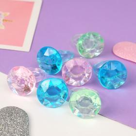 Кольцо 'Выбражулька' кристаллик, цвет МИКС, размер 17,5 Ош
