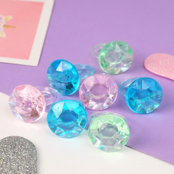 Кольцо Выбражулька кристаллик, цвет МИКС, размер 17,5