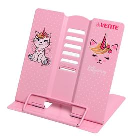 Подставка для учебников и книг металлическая 15.4 х 15.2 см, deVENTE KittyCorn, вес 235 г, с противоскользящими ножками, розовый Ош