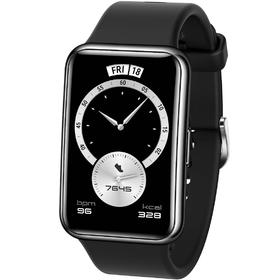 Смарт-часы Huawei Fit Elegant TIA-B29, 1.64', Amoled, пульсомер, шагомер, 180 мАч, чёрные Ош