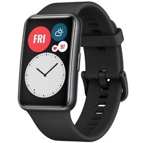 "Смарт-часы Huawei Fit TIA-B09, 1.64"", Amoled, пульсомер, шагомер, 180 мАч, чёрные"