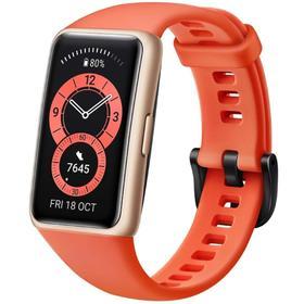 "Фитнес-браслет Huawei Band 6, 1.47"", Amoled, WR50, BT 5.0, 180 мАч, оранжевый"