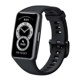 """Фитнес-браслет Huawei Band 6, 1.47"""", Amoled, WR50, BT 5.0, 180 мАч, чёрный"""
