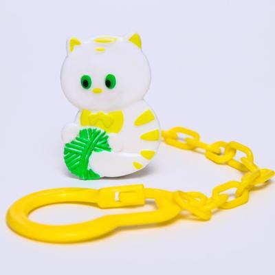 Клипса-держатель для пустышек на цепочке «Котёнок» - Фото 1