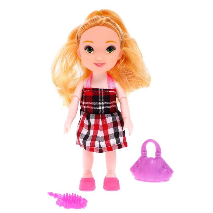 Кукла Наташа в платье, с аксессуаром, МИКС