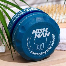 Воск жевательная резинка Бабл-Гам на водной основе сильной фиксации NISHMAN 01 GUMGUM,150 мл