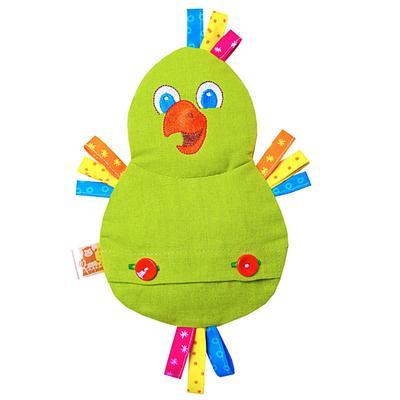 Развивающая игрушка с вишнёвыми косточками «Попугай. Доктор мякиш»
