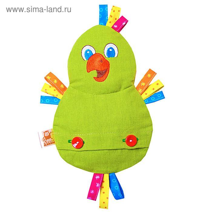 """Развивающая игрушка с вишнёвыми косточками """"Попугай. Доктор мякиш"""""""