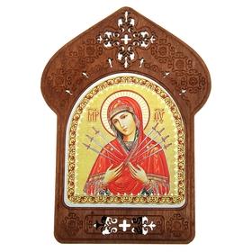 """Ажурная икона на подставке """"Семистрельная икона Божией Матери"""""""