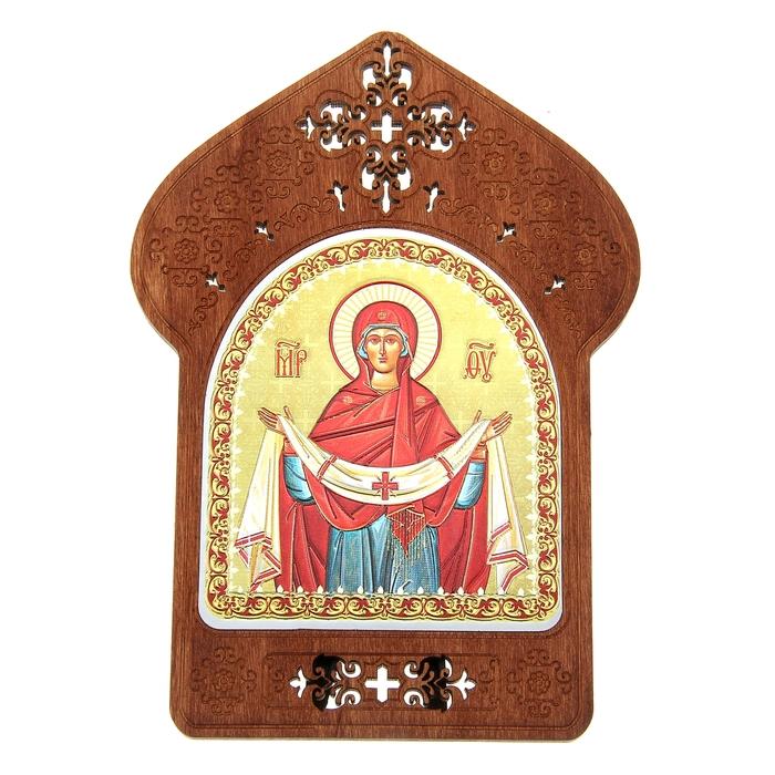 """Ажурная икона на подставке """"Покров Пресвятой Богородицы"""""""