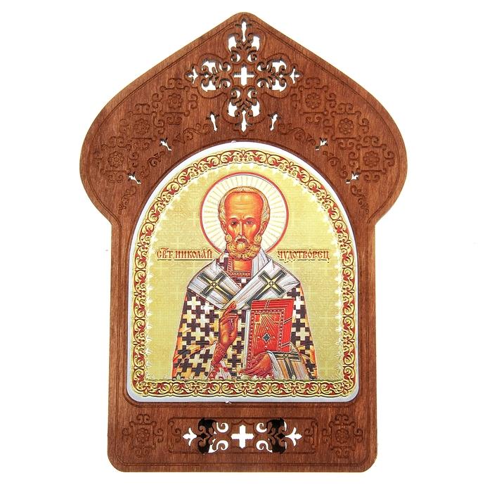 "Ажурная икона на подставке ""Святой Николай Чудотворец"""