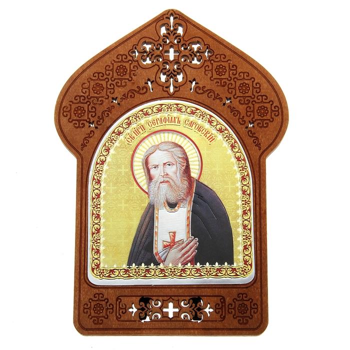 """Ажурная икона на подставке """"Святой Серафим Саровский"""""""