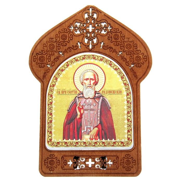 """Ажурная икона на подставке """"Святой Сергий Радонежский"""""""