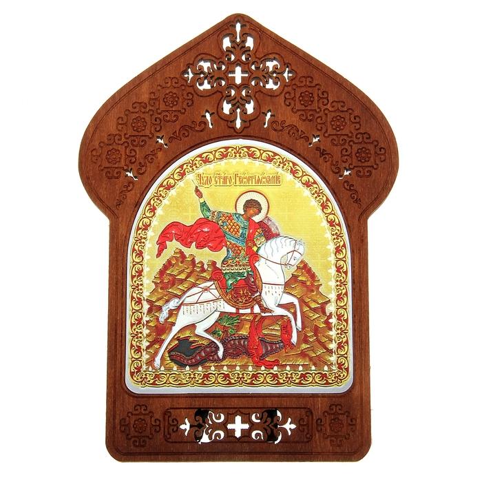 """Ажурная икона на подставке """"Святой Георгий Победоносец"""""""
