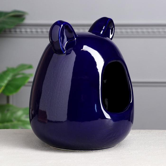 Ванна для шиншилл, синяя, 26 см